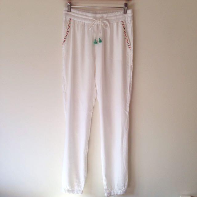 Tigerlily White Flow Pants