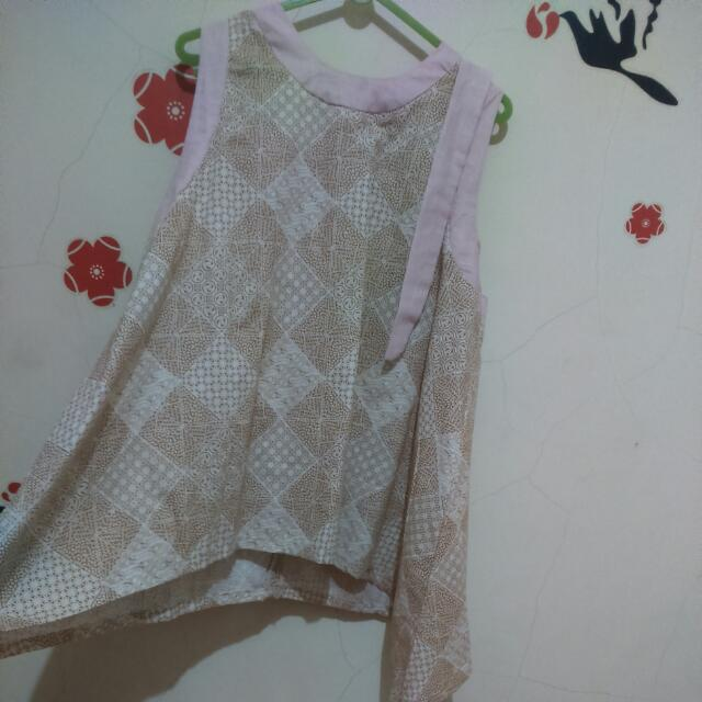 Top Batik Pink