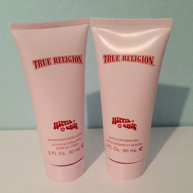 True Religion Hippie Chic Shimmering Body Lotion & Shower Gel