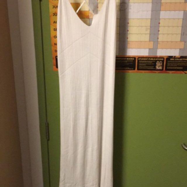 White Knit Midi Dress