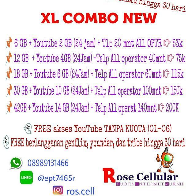 XL COMBO NEW (Kuota Internet Murah)