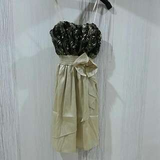 Gold Flower Dress Size XS-S