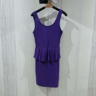 Purple Peplum Dress Size XS-S