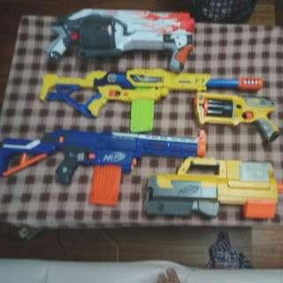 Set of nerf gun