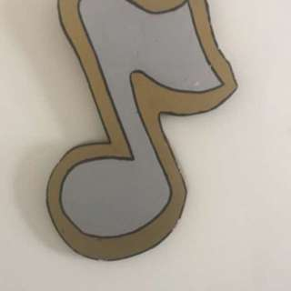 Large Hanging Music Note