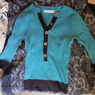 Blue And Black Pull Over