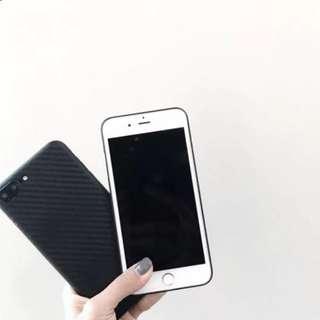 簡約黑色超薄手機殼iphone7/6s/plus