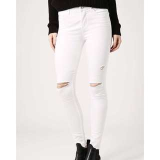 TOPSHOP LEIGH jeans in white