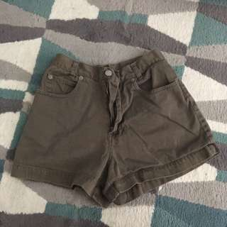 High Waisted Olive Shorts