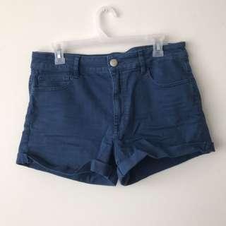 AEO Blue High-rise Shorts