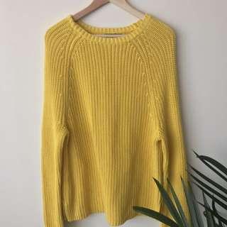 Ralph Lauren Yellow Oversized Sweater