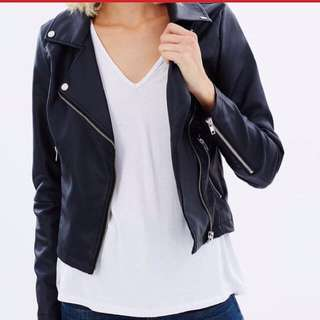 Atoms&here Leather Jacket