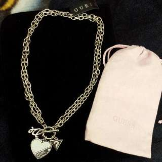 Guess Heart Necklace. Silver