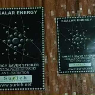 Scalar Energy Saver Stickers