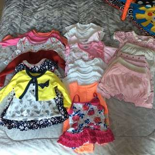 Assorted Baby Girl Clothing 26 Pcs