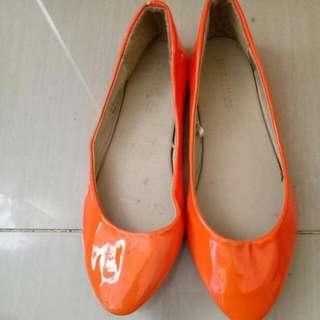 orange doll shoes