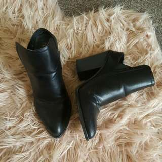 Black Backless Boots