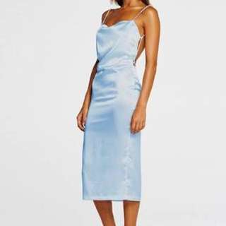 MAURIE AND EVE BLUE SILK DRESS