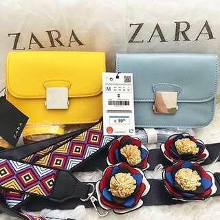 Zara Crossbody Bag With Strap Original