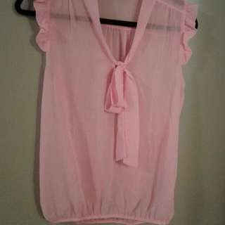 Pink Blouse Size M