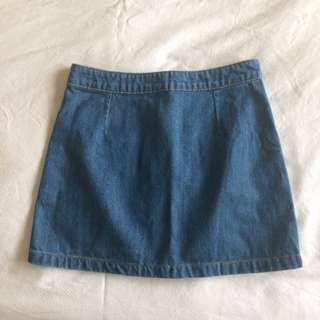 Size 6 Glassons Denim Skirt