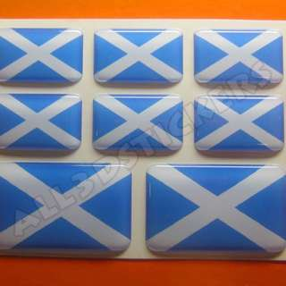 3D Sticker SCOTLAND FLAG 8pcs