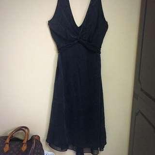 Zara Woman Crushed Silk Dress