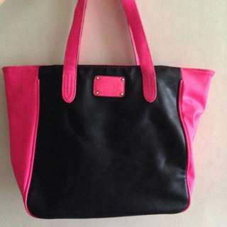 Mango Touch Pink And Black Bag