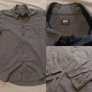 Uniqlo Dark Gray Flannel