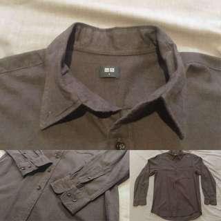 Uniqlo Dark Brown Flannel