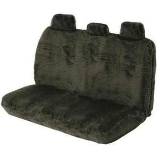 Black Fur Back Seat Covers