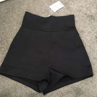 ICONIC Black High Waisted Shorts