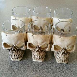Six Skull Shot Glasses #EOFYSALE