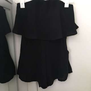 Whitefox Boutique Black Playsuit