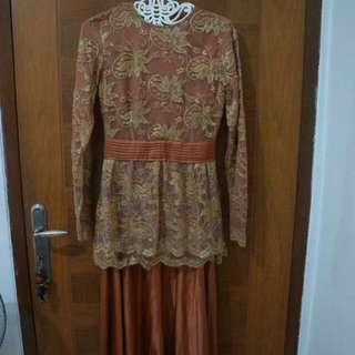 Brown Lace Long Dress