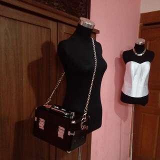 Beauty Case Tammia / Black Beautycase / Makeup Box / Make Up Bag / Tas Make Up Artist