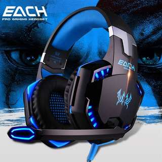 Gaming Headset Over-Ear Headphones Ear Phone Casque Stereo Earphone PC Gaming Headphone with Mic Led Light For Pc/Xbox1/ps4