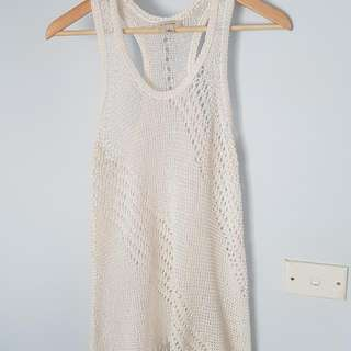 Witchery White Crochet Top