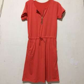 Long Red Jumper Dress