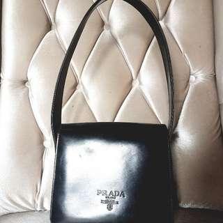 Prada Vintage Black Patent Bag