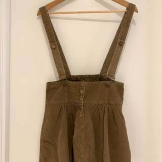 ZARA TRF Coudroy Overall Skirt