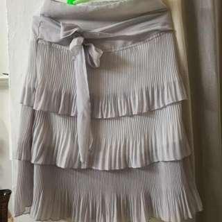 Pletted Skirt (Gray)