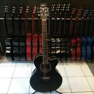 Gitar Akustik Taylor Hitam