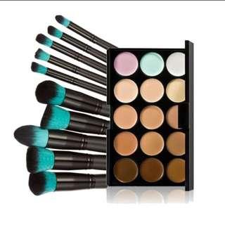 Makeup Brushes + Contour Kit