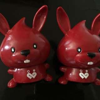 兔子造型存錢桶(兩隻)