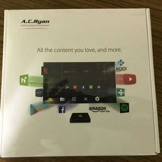 Brand New Sealed AC Ryan Veolo 4K Android TV Box. Comes with one year warranty. Box is unopened.
