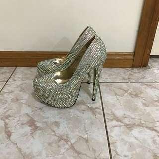 Crystal Heels Size 7