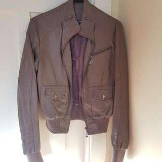 Italian Brown Leather Jacket