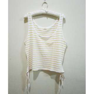 New Look Yellow Stripe Tank Top