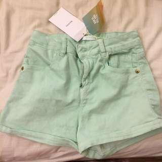 Bershka Bsk Short Pants Mint Pastel